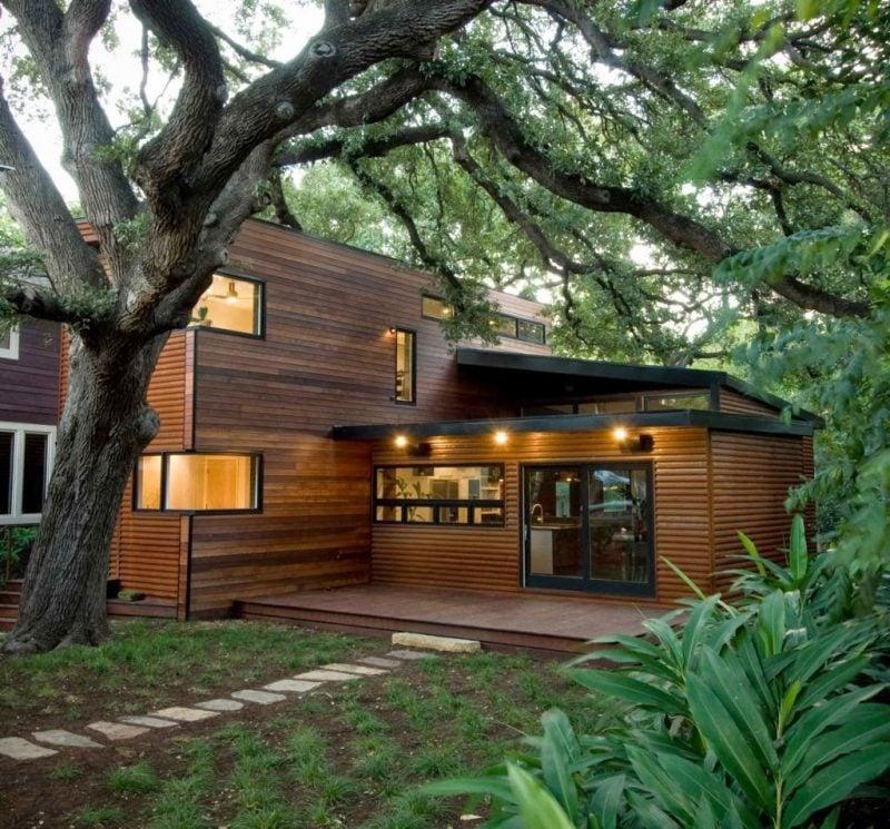 Fertigteilhaus holz  Holz Fertighaus: 21 umweltschonende Ideen - Architektur ...