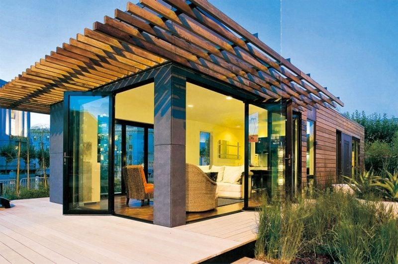 holz fertighaus modern
