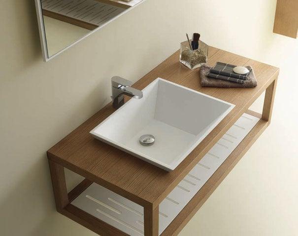 holz waschtischplatte elegant
