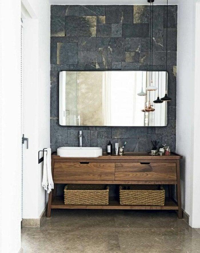 holz waschtischplatte 21 gestaltungsideen f r angenehmes. Black Bedroom Furniture Sets. Home Design Ideas