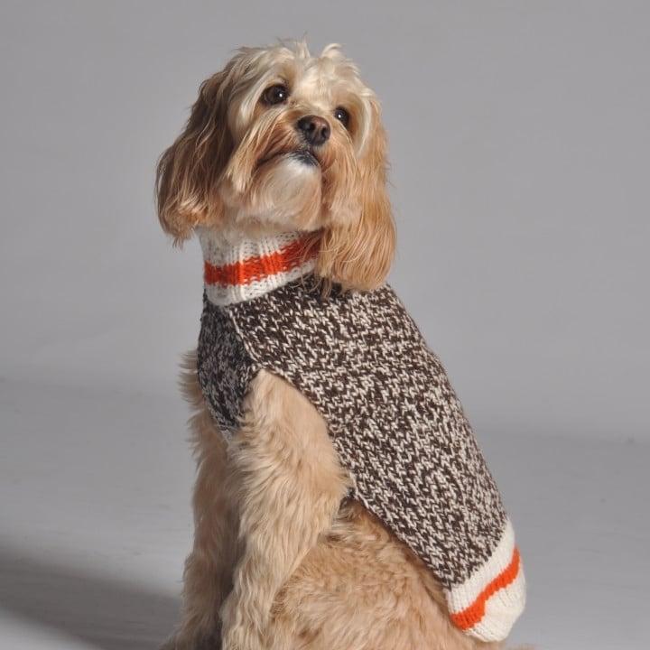 Hundepullover stricken mit verschiedenen Muster