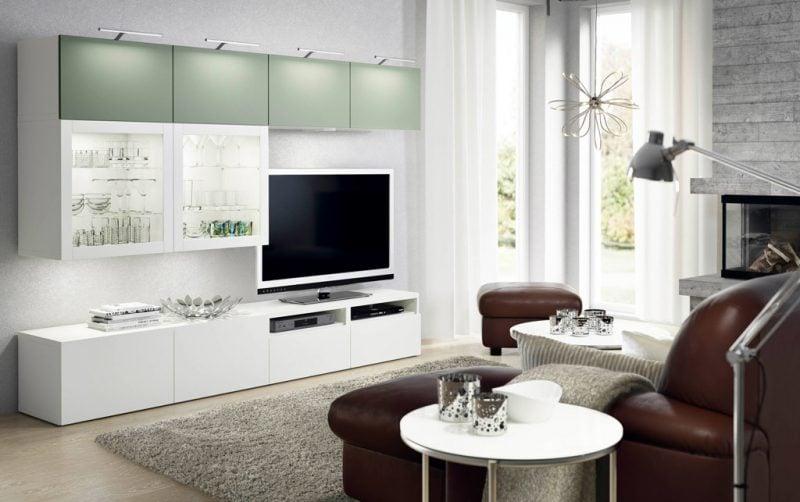 Ikea Besta Regal als TV Wand