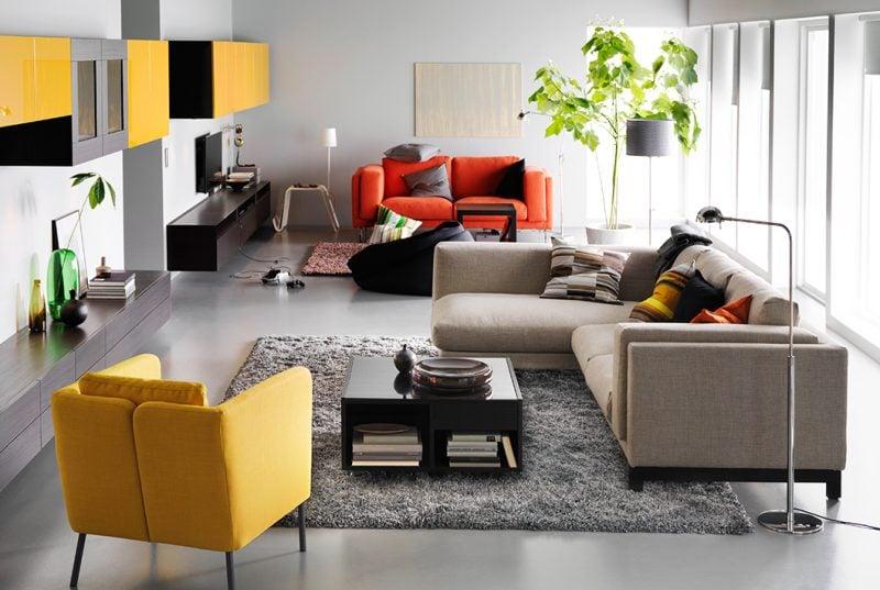 Ikea Besta Regal kann verschiedene Farben haben