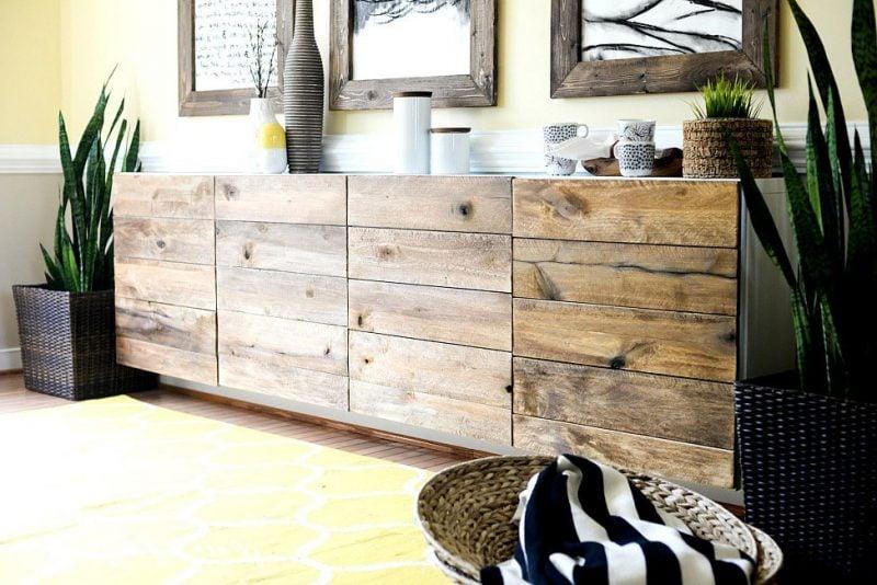 Ikea Besta Regal in Holzbuffet verwandeln