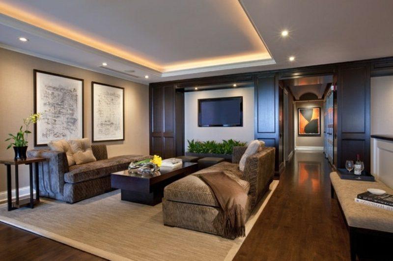 Wohnzimmerdecke indirekte Beleuchtung LED