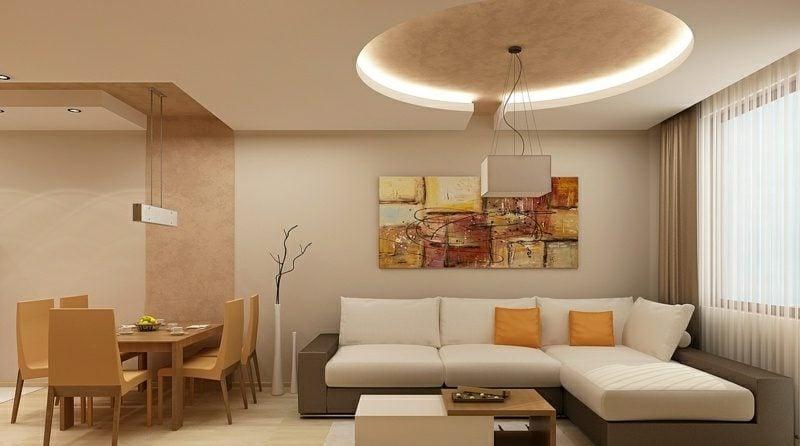 Decke Wohnzimmer Beleuchtung indirekt