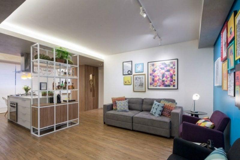 Wohnzimmer indirekte LED-Beleuchtung