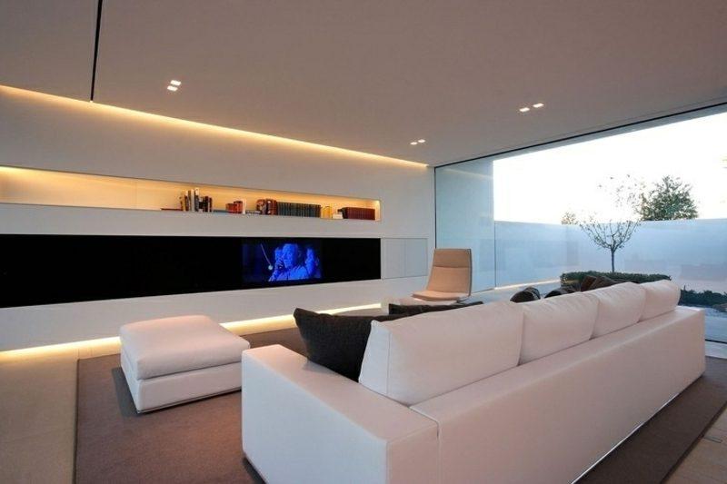 Wohnzimmer modernes Design indirekte LED-Beleuchtung