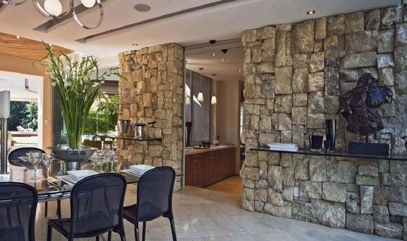 Wohnideen Natursteinwand innen steinwand 22 elegante ideen zur gestaltung deko feiern