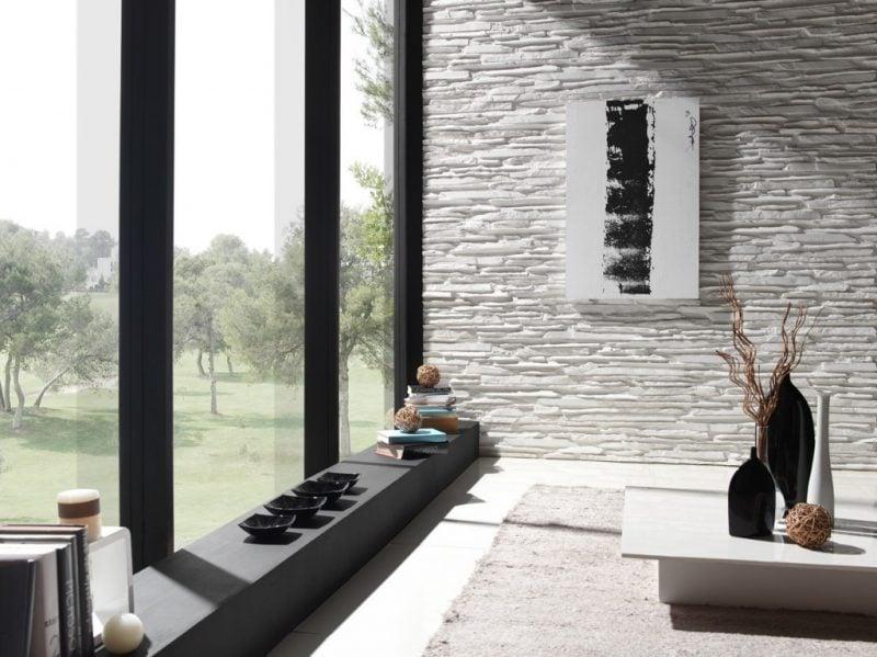 innen steinwand wohnzimmer