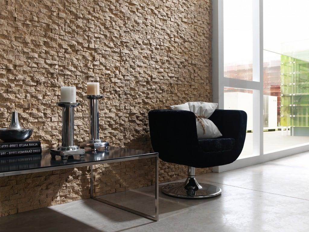Moderne Innen Steinwand