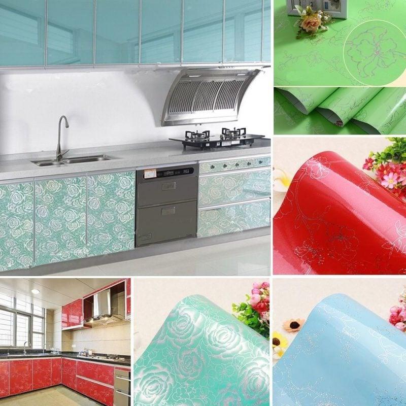küchenfronten bekleben verziert