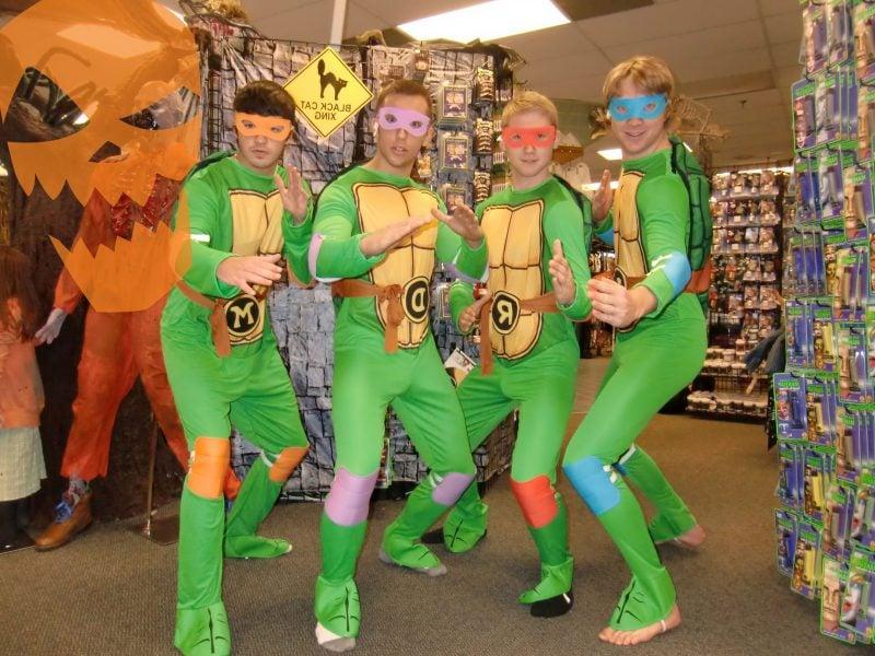 karneval gruppenkostüme ninja turtles