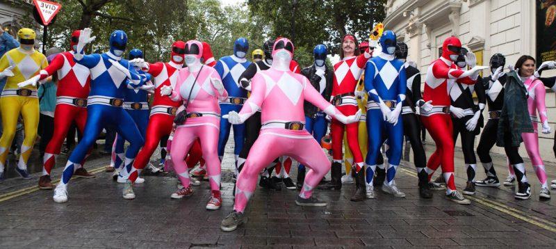 karneval gruppenkostüme power rangers