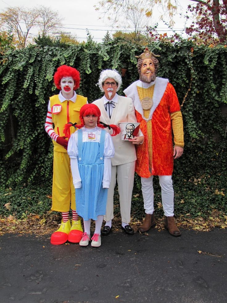 karneval gruppenkostüme mr mc donalds