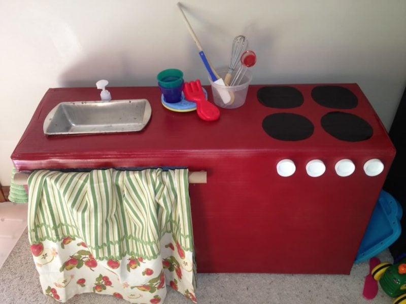 Kinderküche selber bauen Anleitung