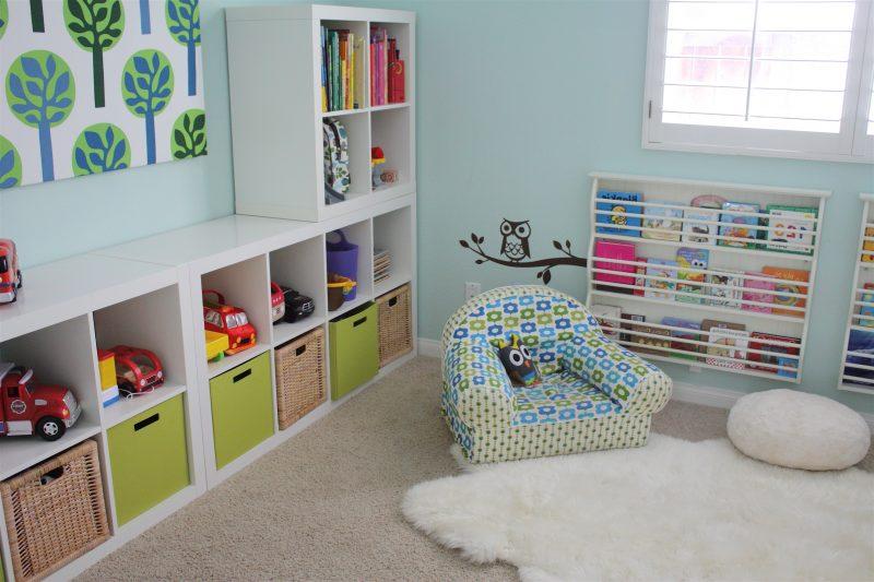 Kinderzimmerteppich im modernen Stil
