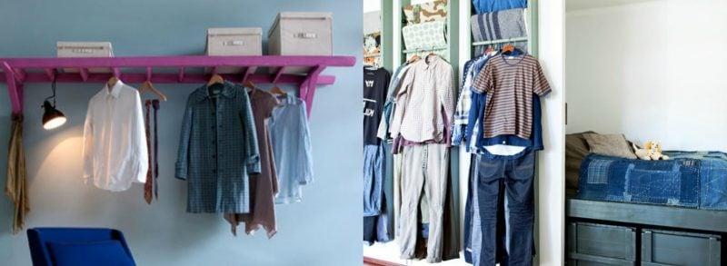 Kreative Ideen für Kleiderstange für die Wand