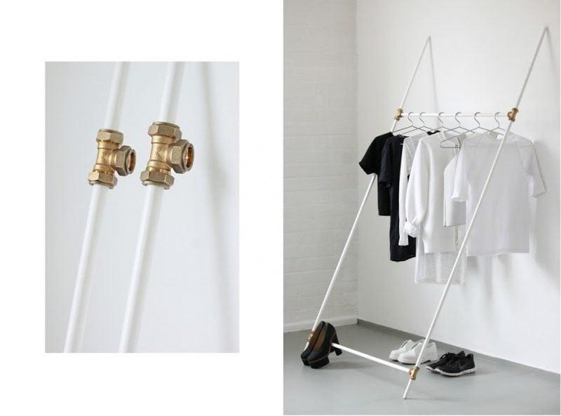 Kleiderstange für die Wand in einer einzigartigen Art