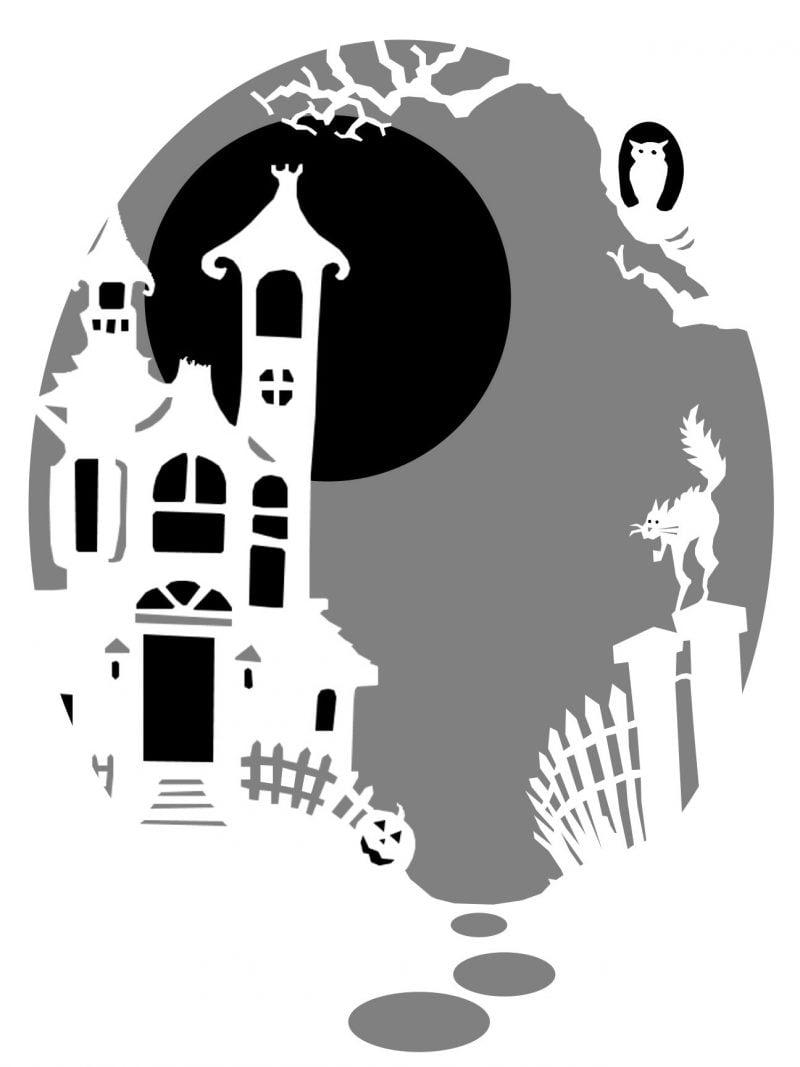 Kürbis Vorlagen Schloss von Dracula
