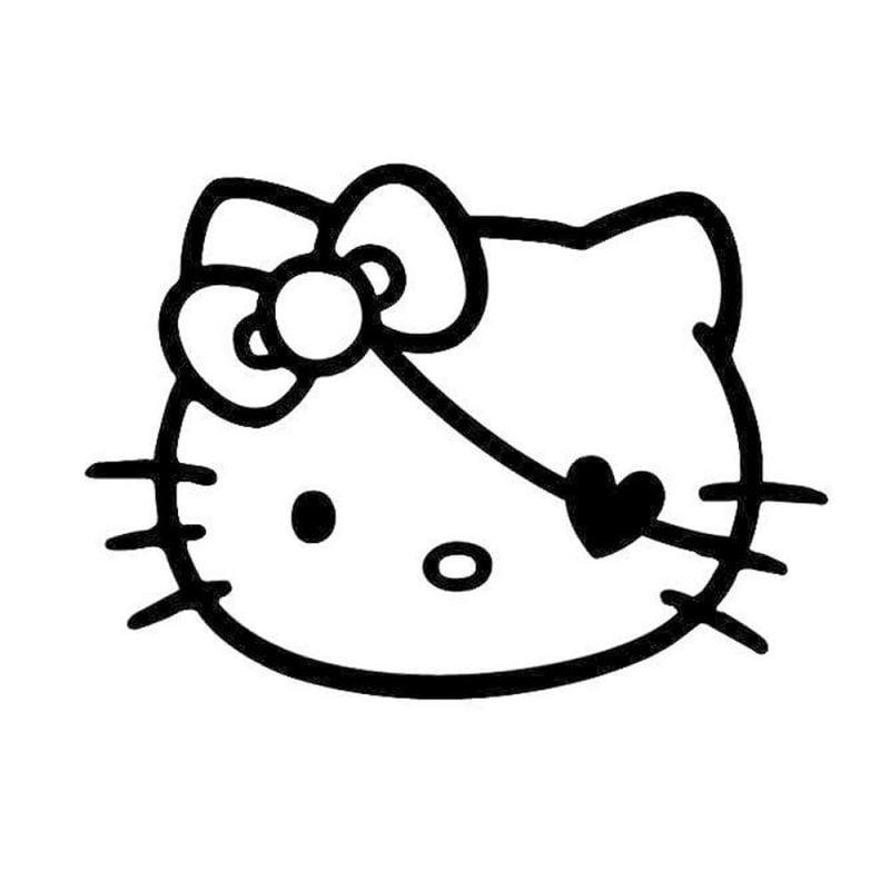 Kürbis Vorlagen mit Hello Kitty
