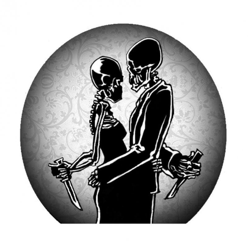 Kürbis Vorlagen mit Skelett