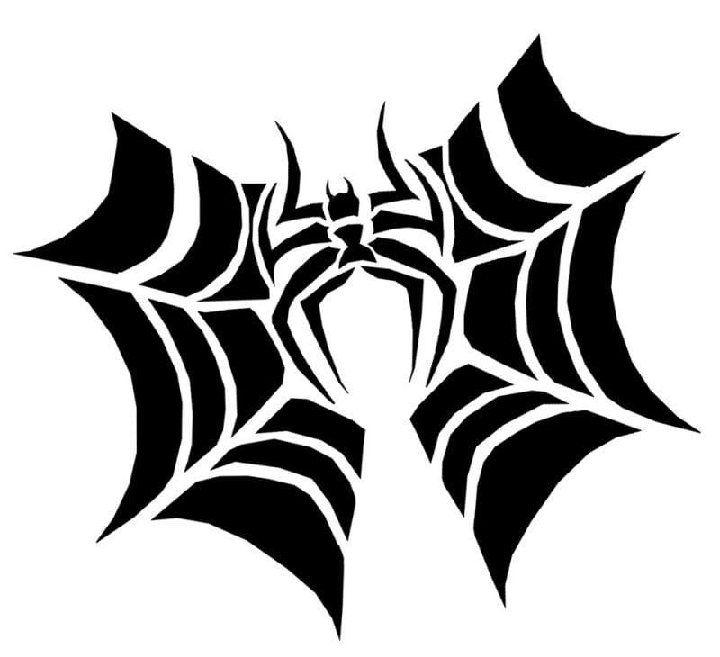 Kürbis Vorlagen Spinne