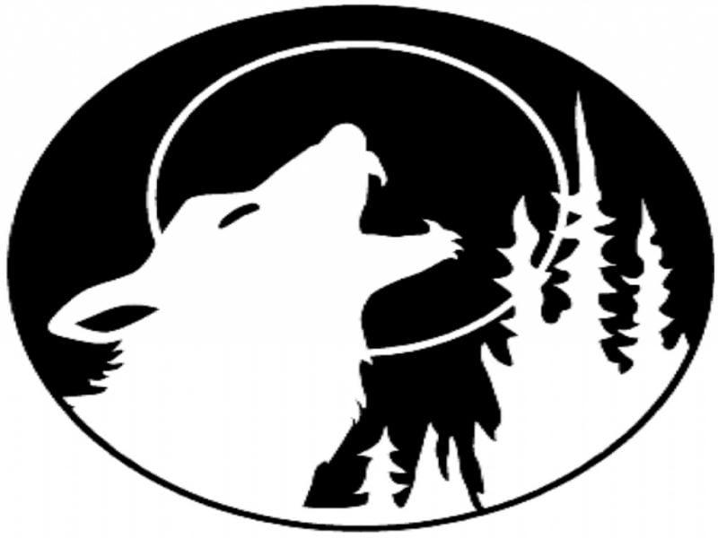Kürbis Vorlagen mit Wolf