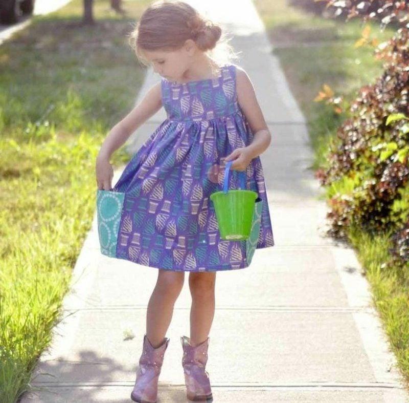 Sommerkleid in Lila Mädchen