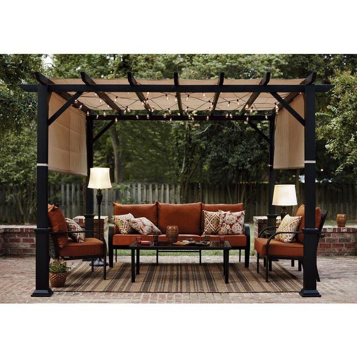 metall pergola 23 ideen f r alle jahreszeiten garten pergola gartenlaube zenideen. Black Bedroom Furniture Sets. Home Design Ideas