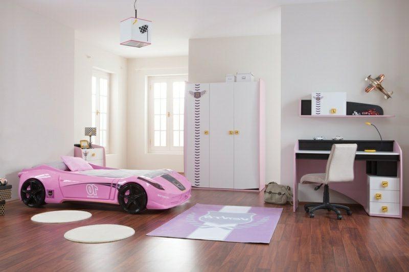 mitwachsendes Kinderbett Auto Mädchenzimmer