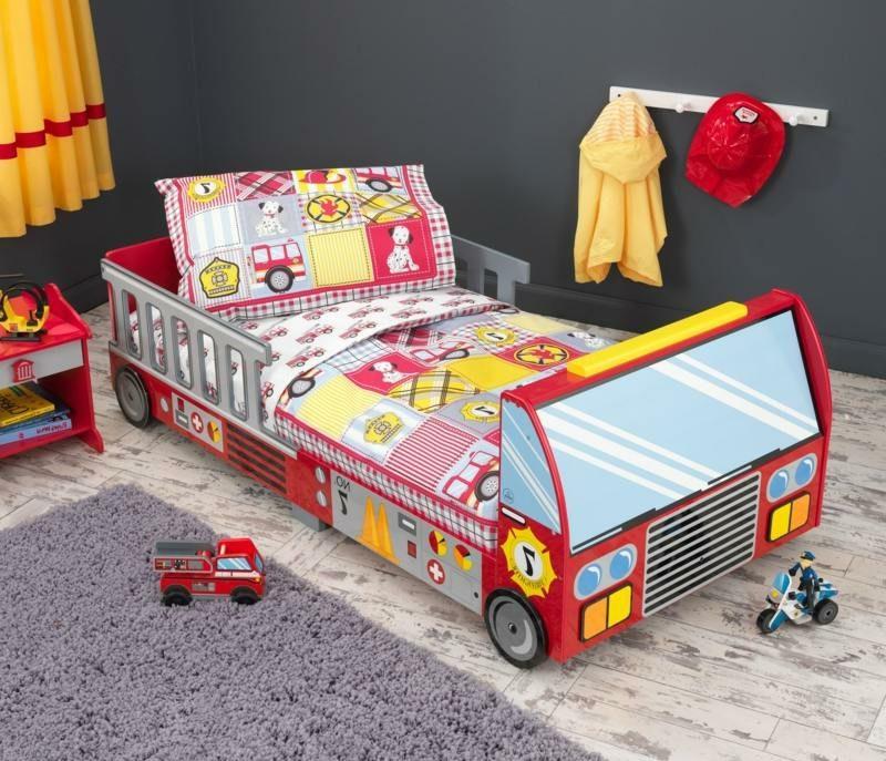 Feuerwehrauto Kinderbett mitwachsend Jungenzimmer
