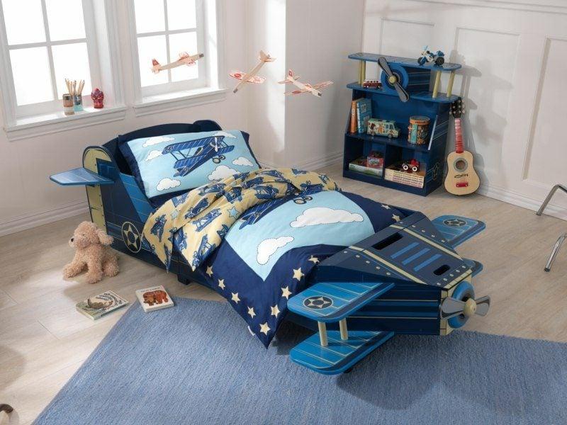 Kinderbett mitwachsend Flugzeug