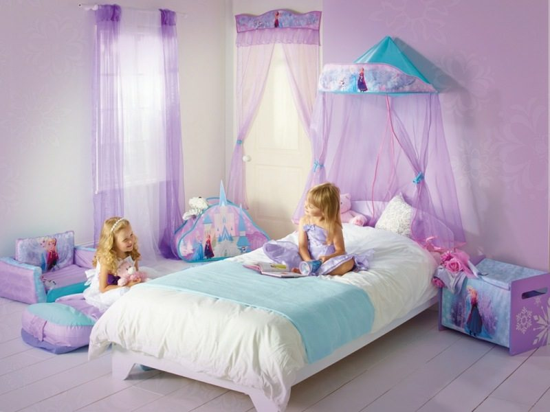 mitwachsendes Kinderbett mit Betthimmel Mädchenzimmer
