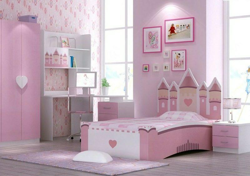 mitwachsendes Kinderbett Schloss Rosa