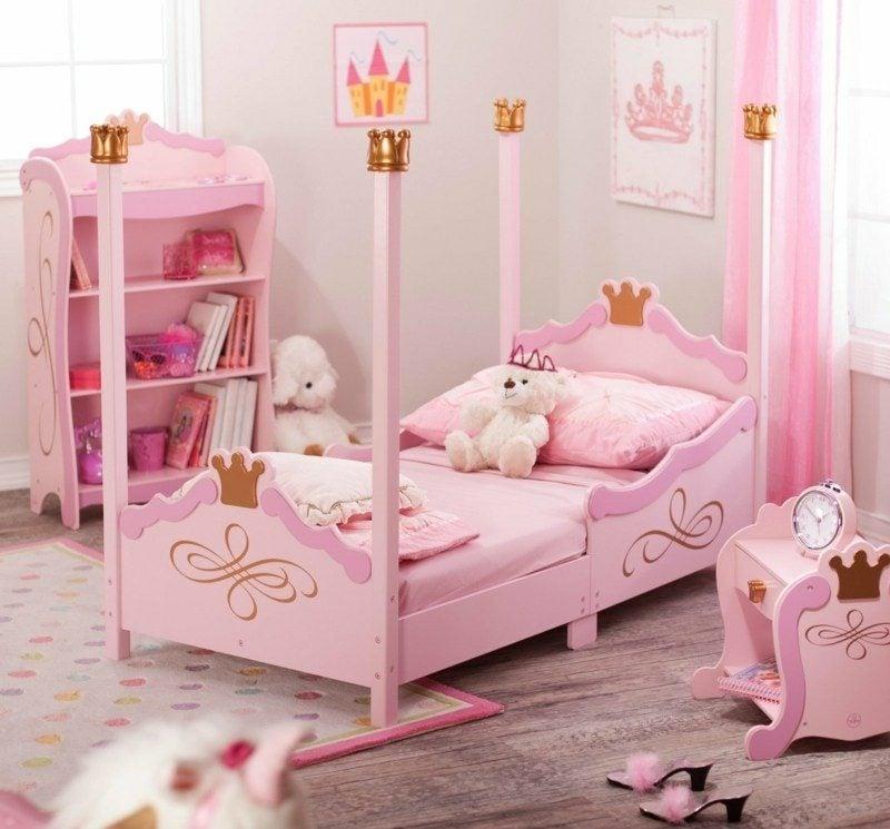 Kinderbett mitwachsend Rosa Mädchen