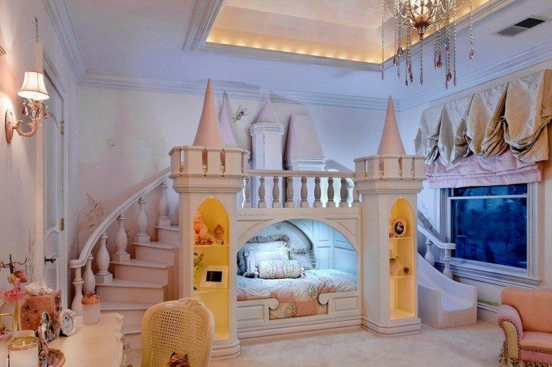 Kinderbett mitwachsend Schloss mit Rutsche