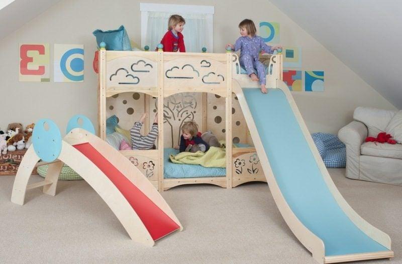 Kinderbett mitwachsend Rutsche