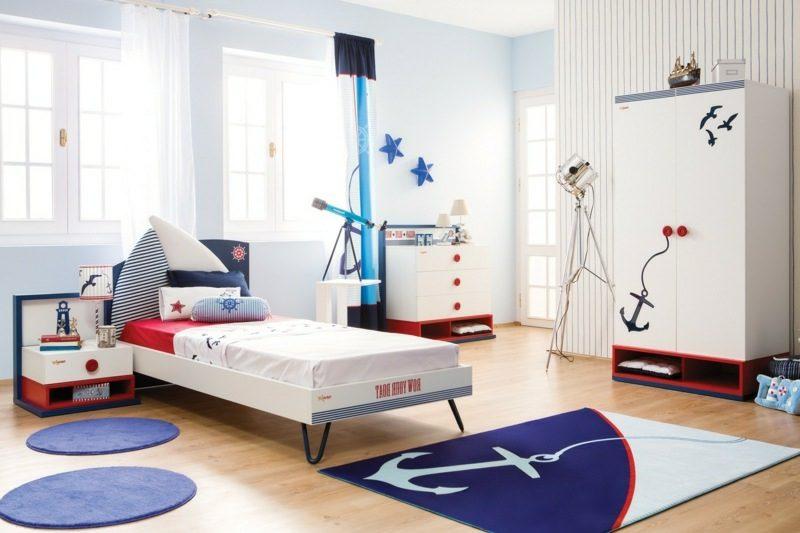 mitwachsendes Kinderbett maritim Jungenzimmer