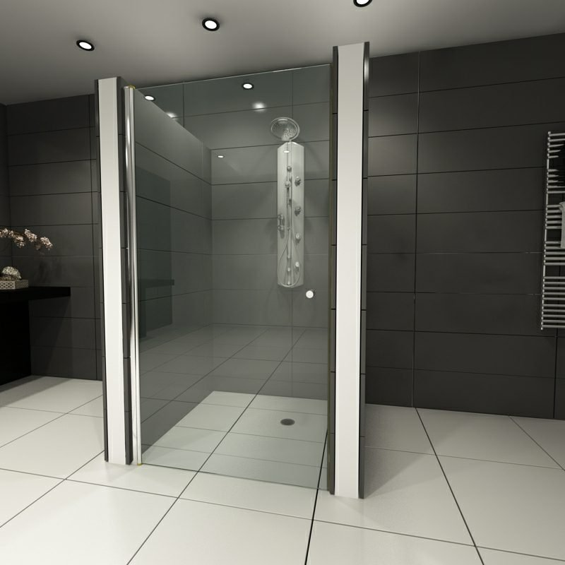 Duschkabine Glas gemauerte Dusche