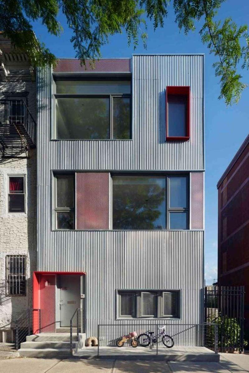 Hausfassade Verkleidung aus Aluminium