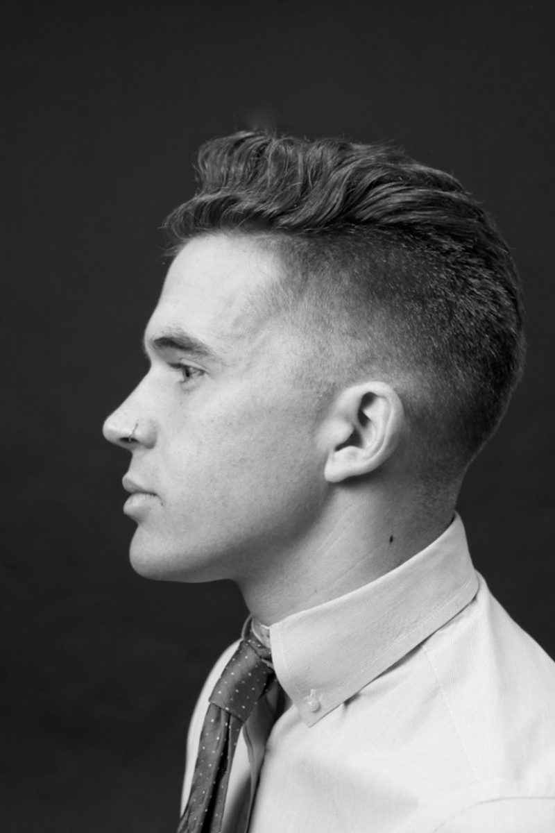 Fade Haarchnitt kurze Haare Trendfrisuren 2015 für Männer