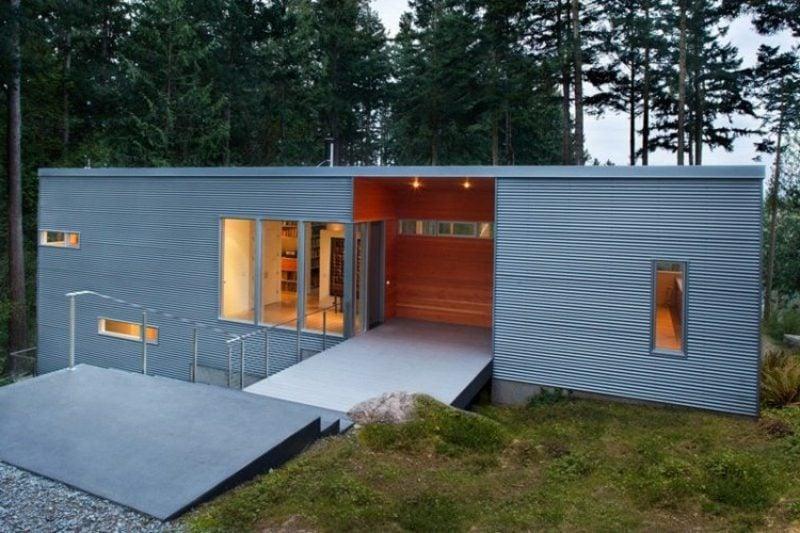 moderne Verkleidung Hausfassade Metall Paneele