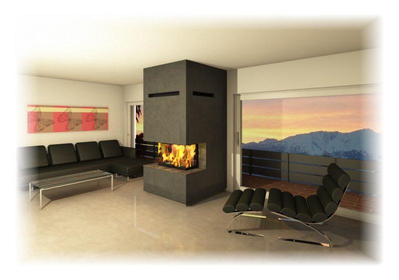 Moderne Kaminöfen mit schlichtem Design oder groszügig