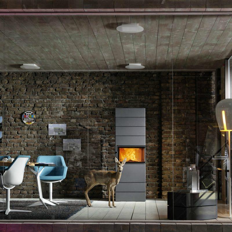 Moderne Kaminöfen von Austroflamm bieten schlichtes Design und Funktionalität