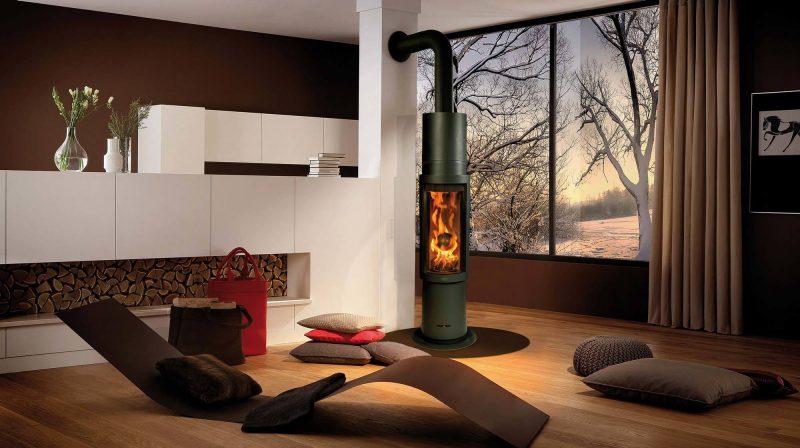 Moderne Kaminöfen haben ein elegantes Design
