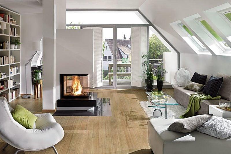 Moderne Kaminöfen müssen in der Mitte des Zimmers stehen