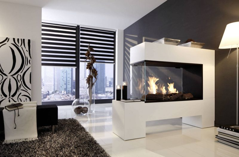 Moderne Kaminöfen mit Glas hergestellt