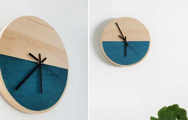 moderne wanduhren diy clock