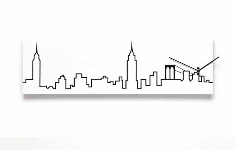 moderne wanduhren skylinewallclockg